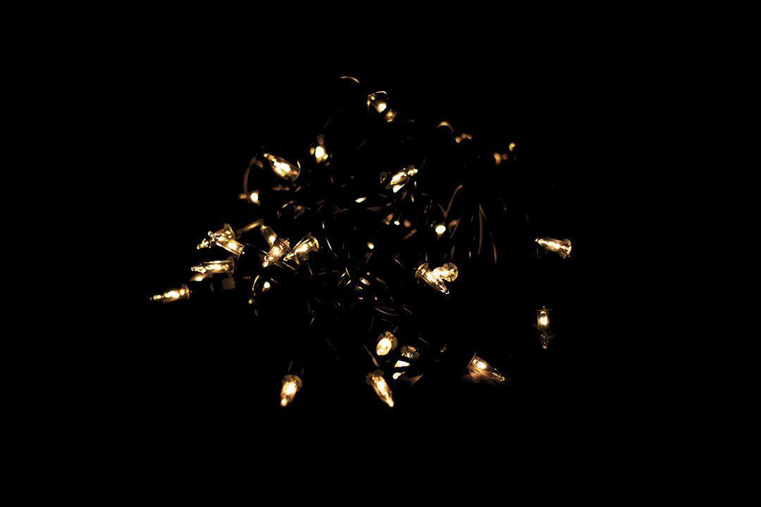 Vánoční světelný řetěz - 50 MINI žárovek - žlutá - 11,30 m