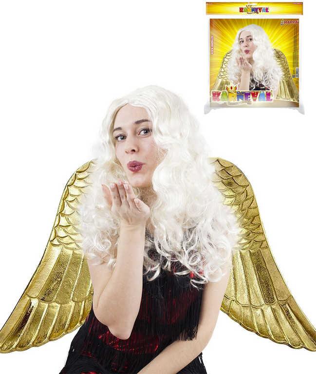 KARNEVAL Paruka Anděl dlouhé vlasy dospělá KARNEVALOVÝ DOPLNĚK