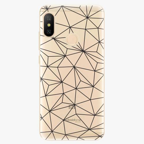 Silikonové pouzdro iSaprio - Abstract Triangles 03 - black - Xiaomi Mi A2 Lite