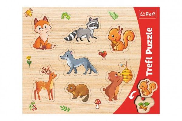 Vkládačka/Puzzle obrysové lesní zvířátka ve fólii