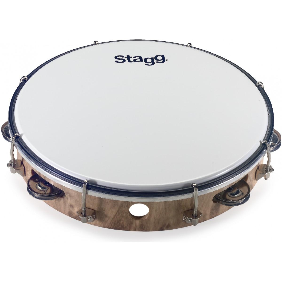 """Stagg TAB-110P/WD, laditelná tamburína s blánou, 10"""""""