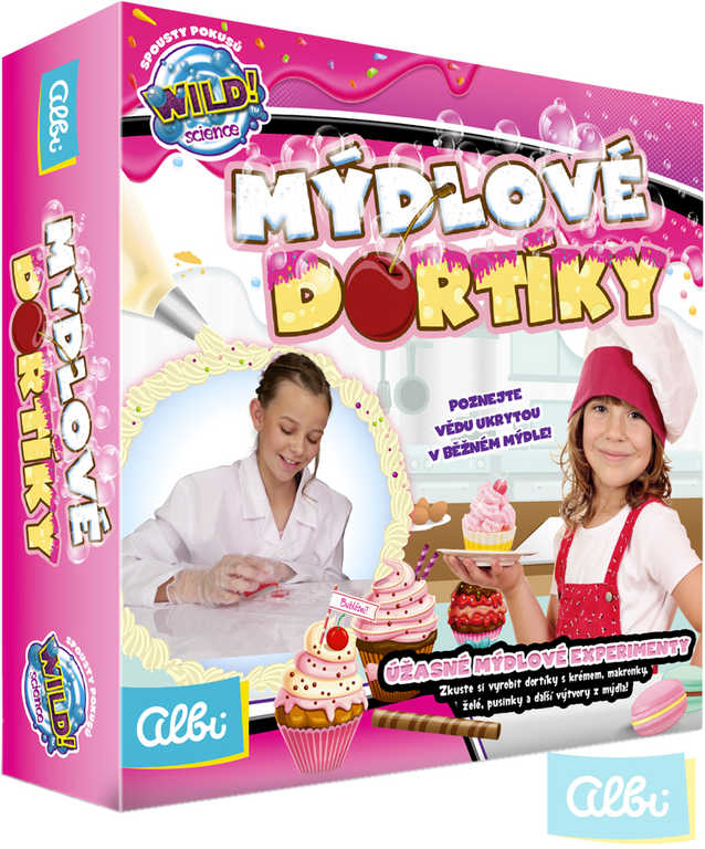 ALBI Mýdlové dortíky kreativní sada výroba mýdel v krabici