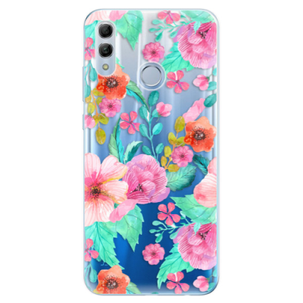 Odolné silikonové pouzdro iSaprio - Flower Pattern 01 - Huawei Honor 10 Lite