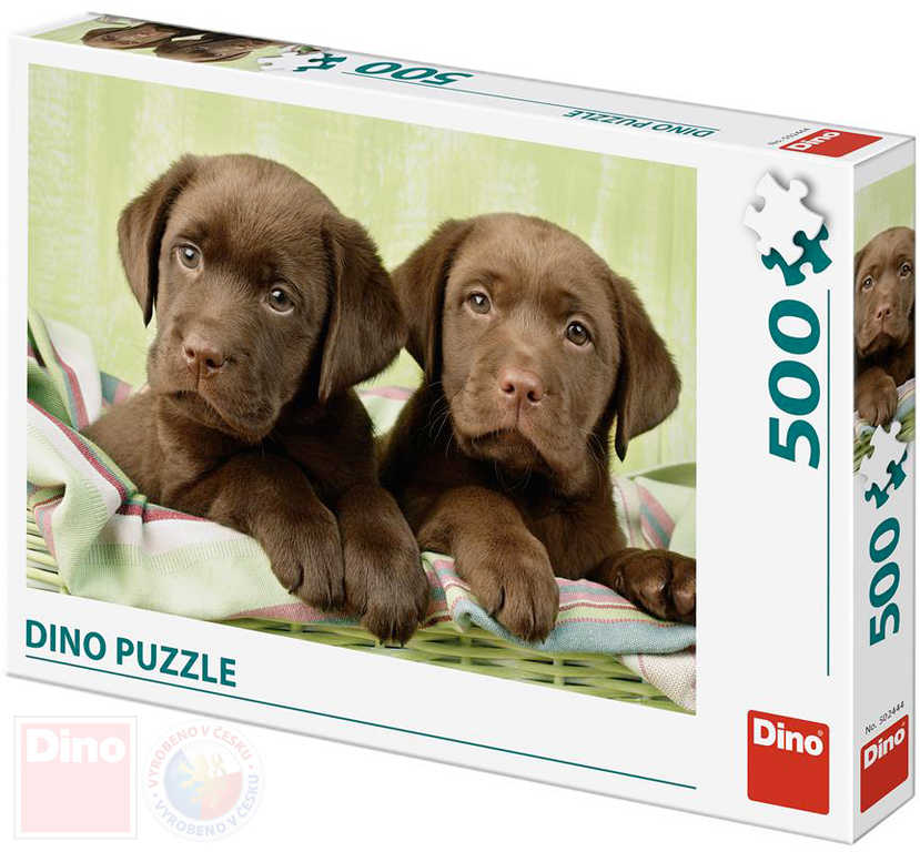 DINO Puzzle foto Pejsci Labradoři štěňata skládačka 500 dílků 47x33cm