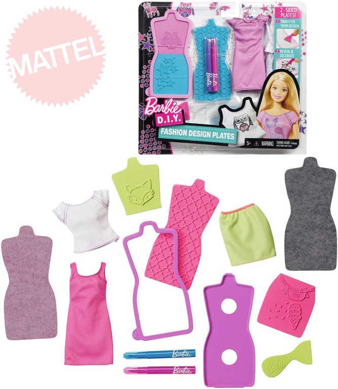 MATTEL BRB Panenka Barbie D.I.Y. módní návrhářské šablony 2 druhy