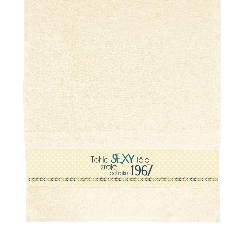 ALBI - Béžový ručník - 1967