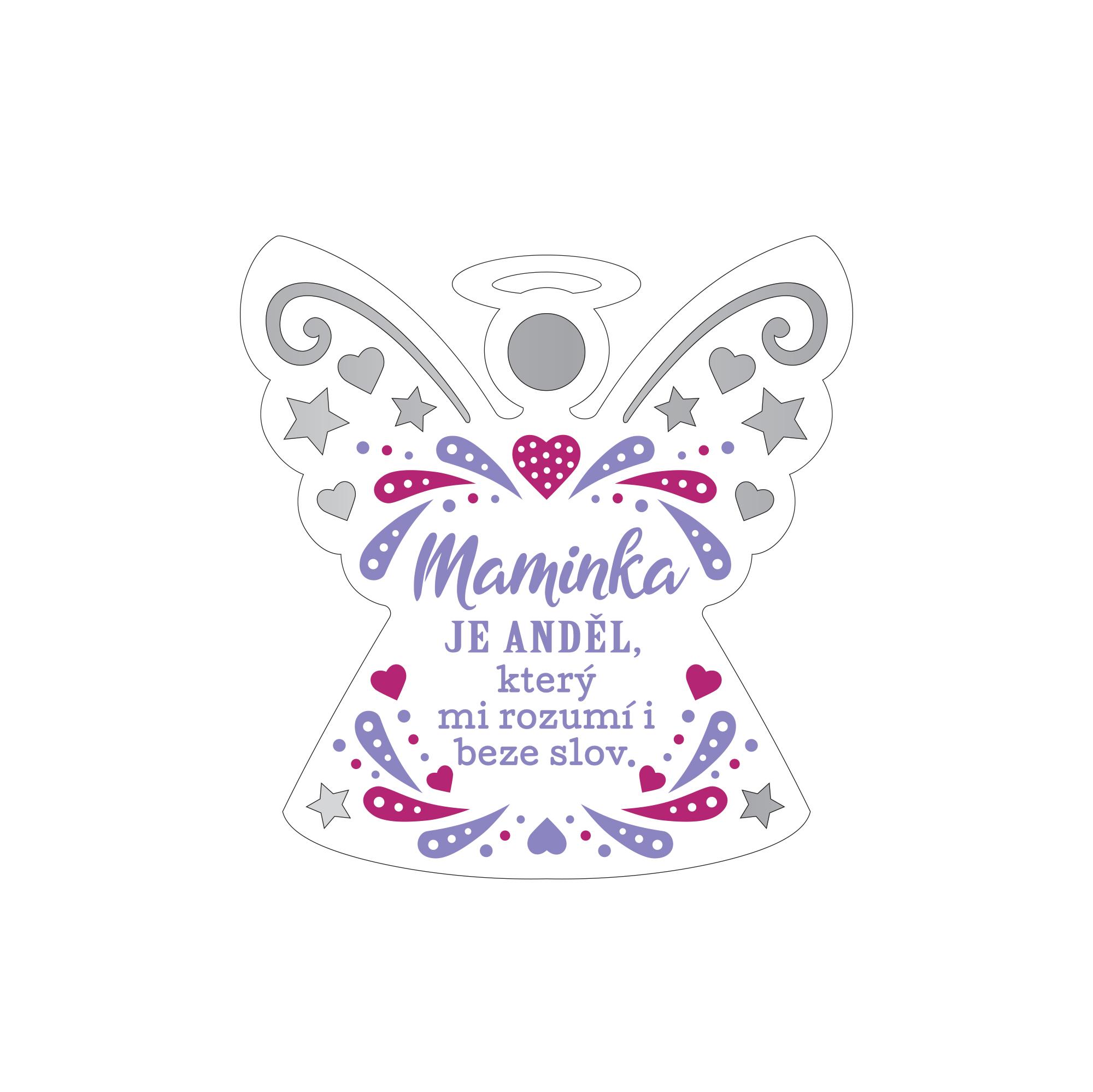 Plaketka anděl - Maminka
