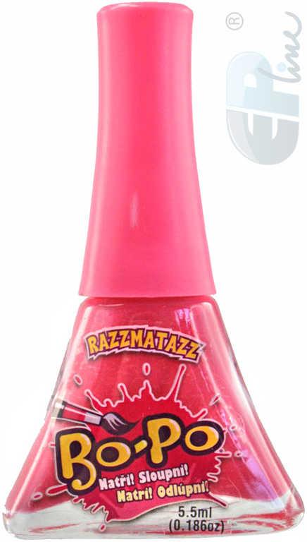 EP line BO-PO Lak na nehty dětský růžový slupovací Razzmatazz 5,5ml na kartě