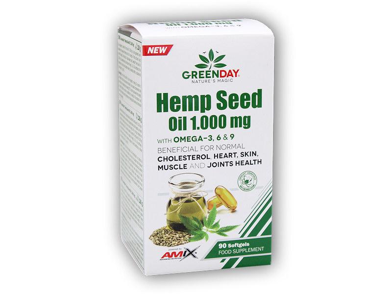 ProVEGAN Hemp Seed Oil 1000mg 90 cps