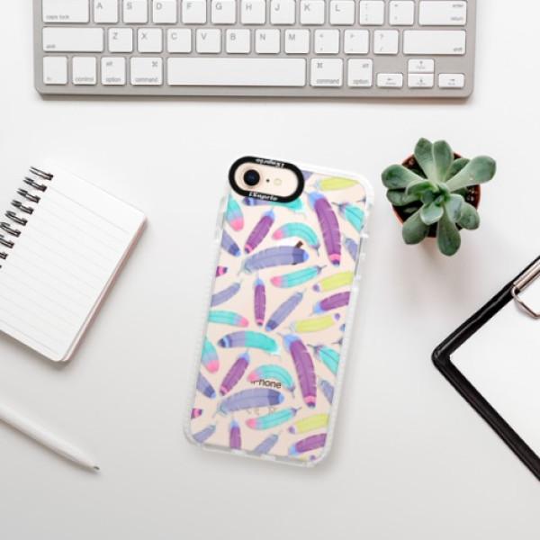 Silikonové pouzdro Bumper iSaprio - Feather Pattern 01 - iPhone 8