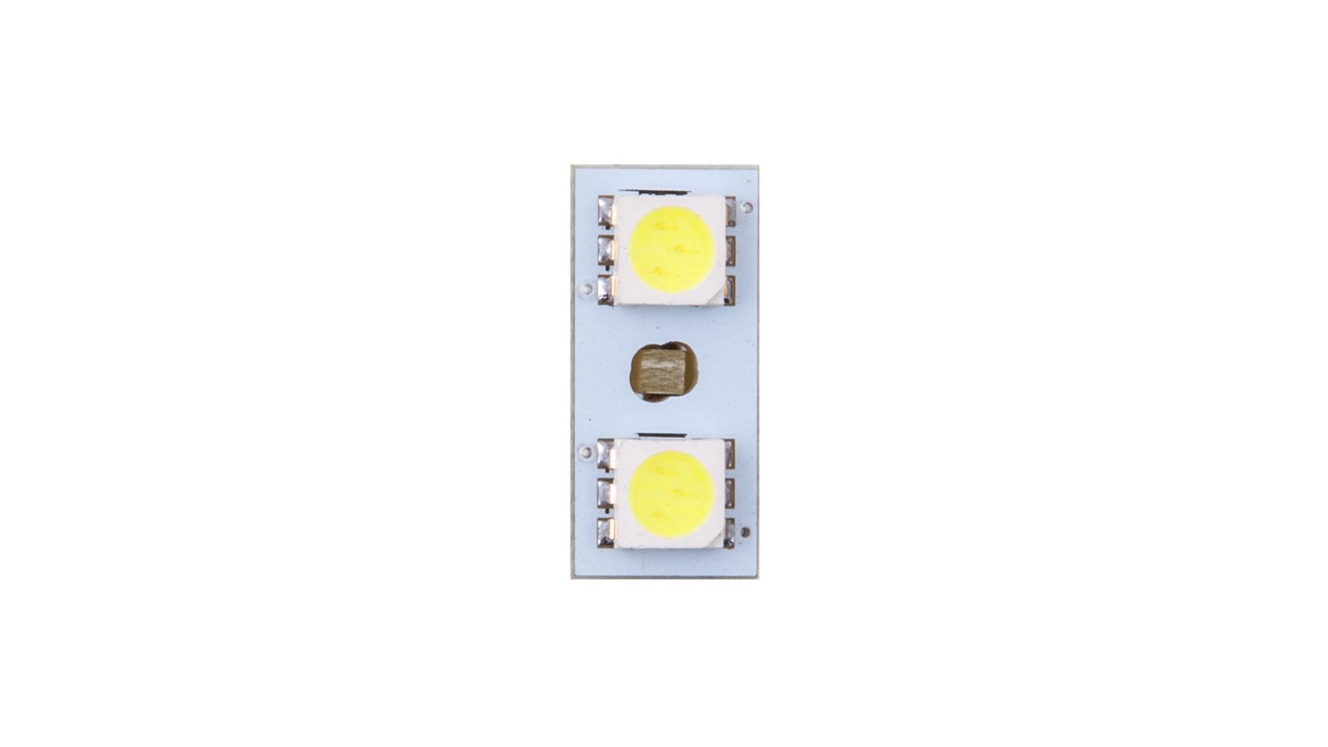 4CARS LED žárovka 2LED 12V 5050SMD T10