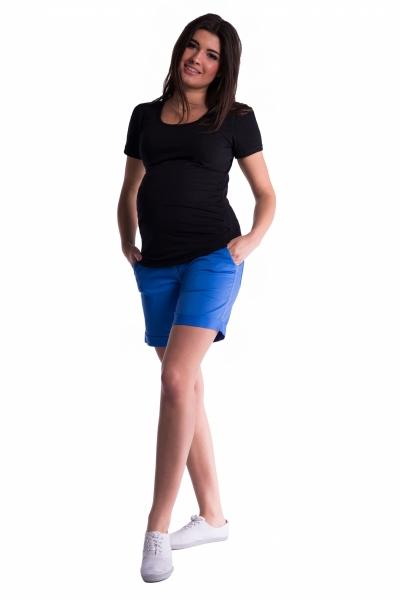 Be MaaMaa Těhotenské kraťasy s elastickým pásem
