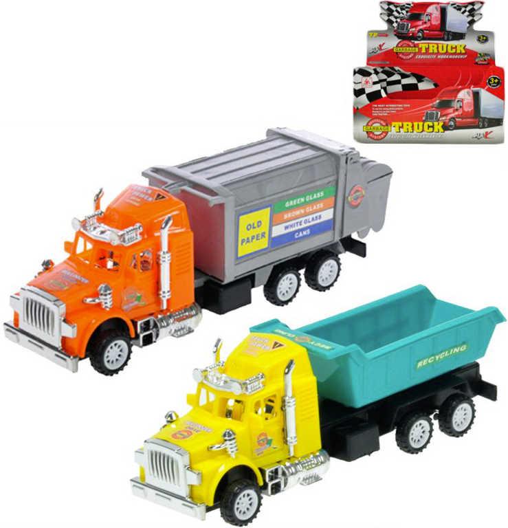 Kamión 17 cm auto nákladní / popeláři na setrvačník - 2 druhy