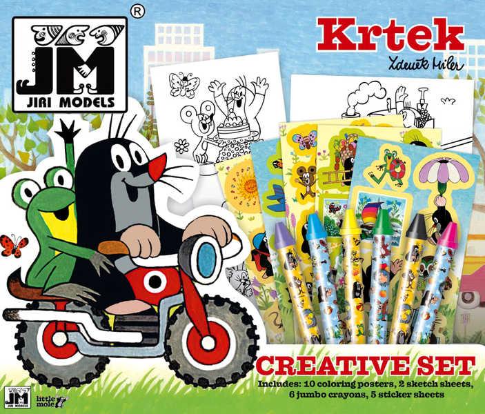 JIRI MODELS Kreativni set 36x31 s voskovkami KRTEK a motorka (Krteček)