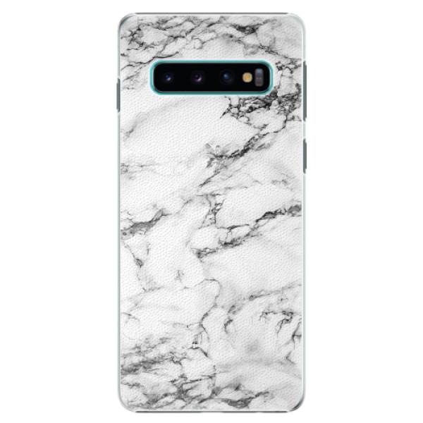 Plastové pouzdro iSaprio - White Marble 01 - Samsung Galaxy S10