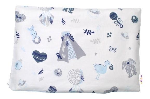 Baby Nellys Povlak na polštářek New Love Baby, 40x60 cm - modrá