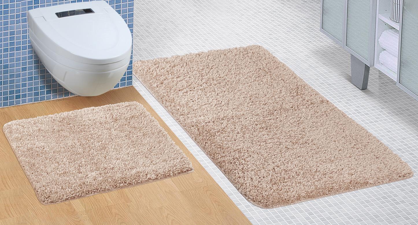Koupelnová sada předložek Micro 60x100+60x50cm hnědá