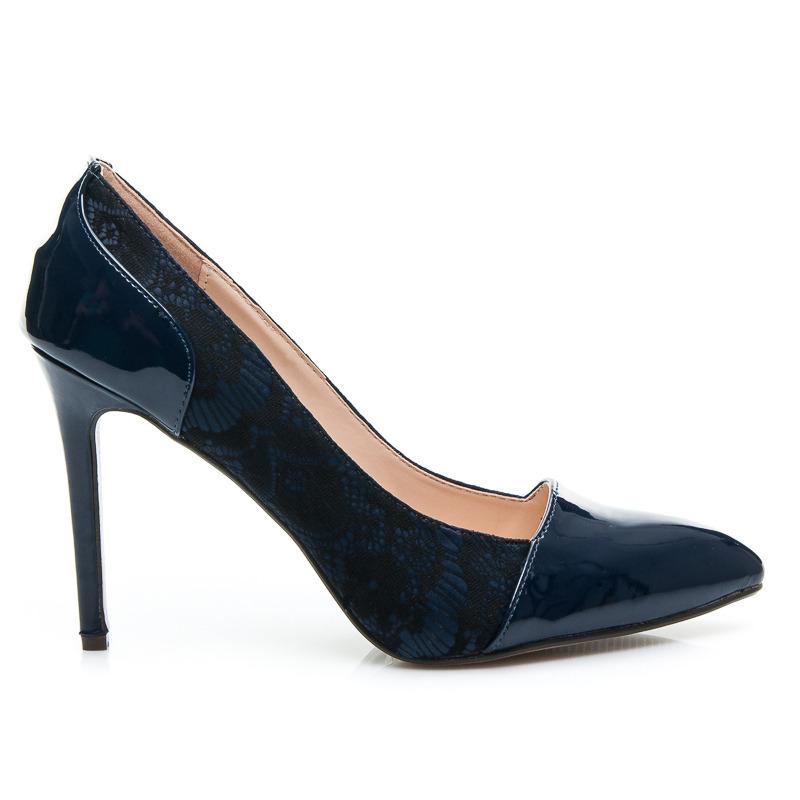 Luxusní lodičky 24431 - Fashion Boty - Temně modrá/40
