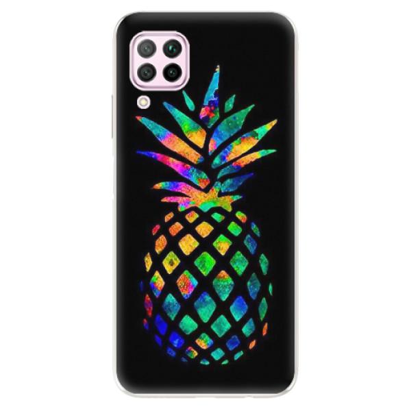 Odolné silikonové pouzdro iSaprio - Rainbow Pineapple - Huawei P40 Lite