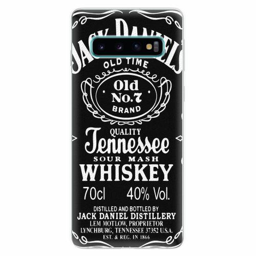 Silikonové pouzdro iSaprio - Jack Daniels - Samsung Galaxy S10