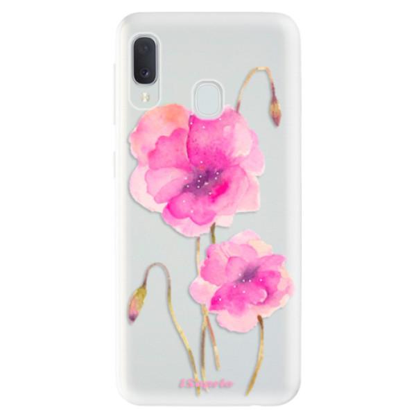 Odolné silikonové pouzdro iSaprio - Poppies 02 - Samsung Galaxy A20e