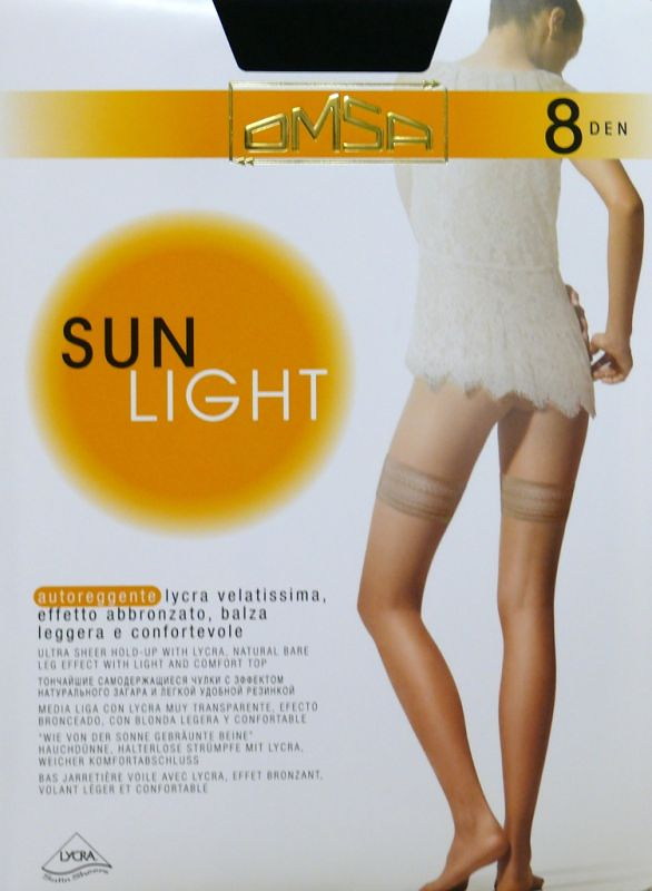 Samodržící punčochy Omsa  Sun Light 8 den