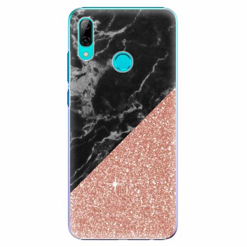 Plastový kryt iSaprio - Rose and Black Marble - Huawei P Smart 2019