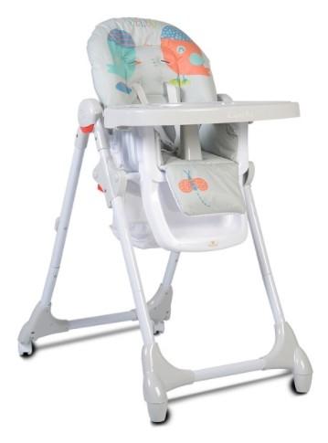Cangaroo Dětská jídelní židlička Kimchi - sv. šedá