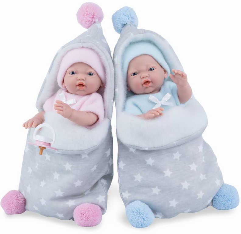 MARINA and PAU Panenka miminko vonící 21cm holčička ve fusaku ruční výroba