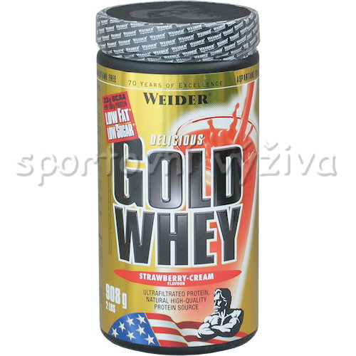 Gold Whey - 908g-strawberry-cream