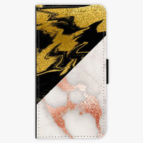 Flipové pouzdro iSaprio - Shining Marble - Huawei Ascend P8