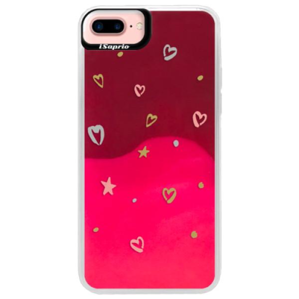 Neonové pouzdro Pink iSaprio - Lovely Pattern - iPhone 7 Plus