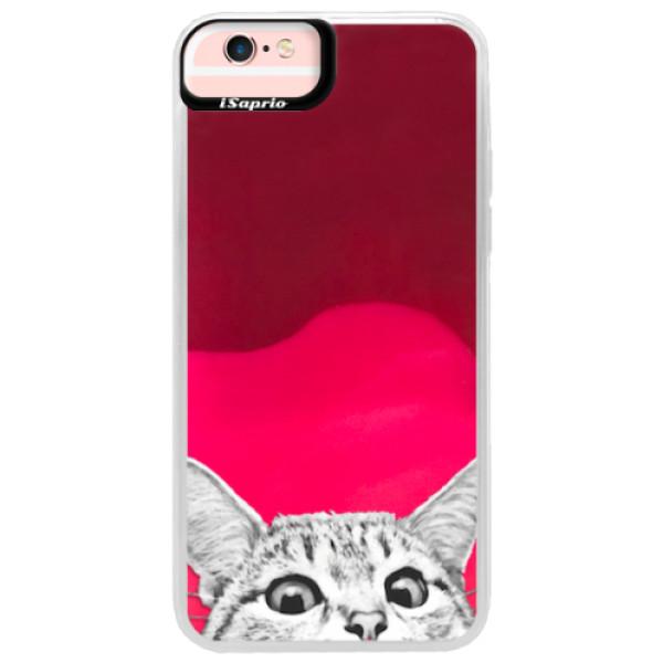 Neonové pouzdro Pink iSaprio - Cat 02 - iPhone 6 Plus/6S Plus