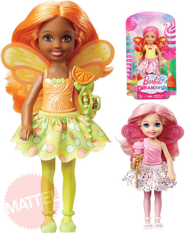 MATTEL BRB Brabie Dreamtopia set panenka Chelsea 14cm víla s hůlkou 3 druhy