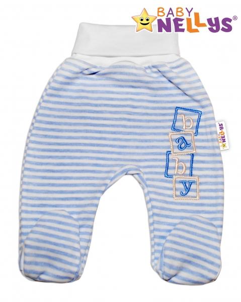 Polodupačky Baby Nellys ® Baby Bear - sv. modrý proužek - 80 (9-12m)