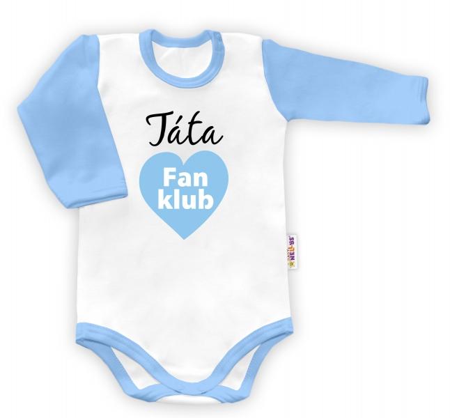 Baby Nellys Body dlouhý rukáv vel. 86, Táta Fan klub - kluk - 86 (12-18m)
