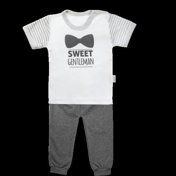 Mamatti Bavlněné pyžamko Mamatti Gentleman - krátký rukáv