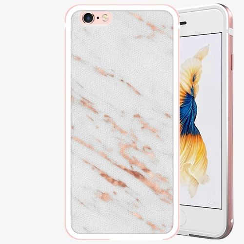 Plastový kryt iSaprio - Rose Gold Marble - iPhone 6 Plus/6S Plus - Rose Gold