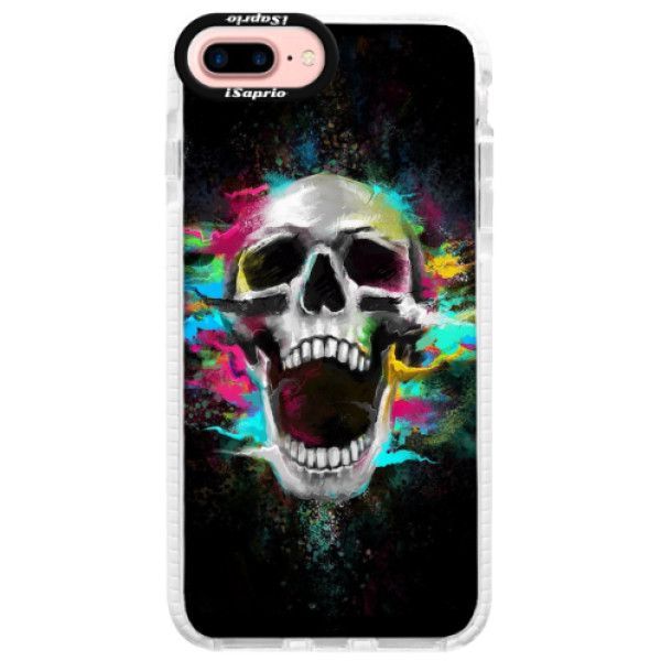 Silikonové pouzdro Bumper iSaprio - Skull in Colors - iPhone 7 Plus