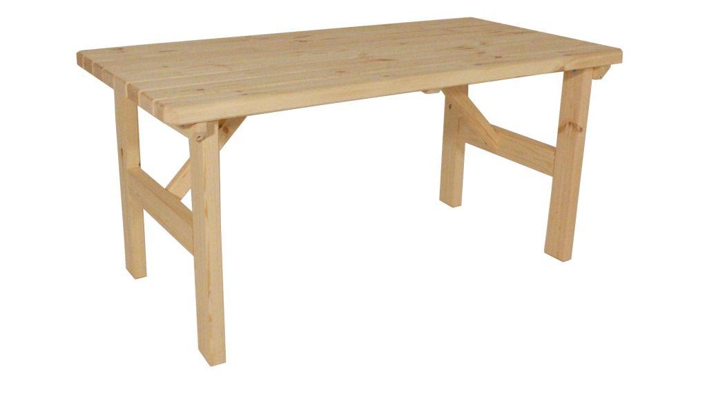 Zahradní dřevěný stůl Darina - bez povrchové úpravy - 160 cm
