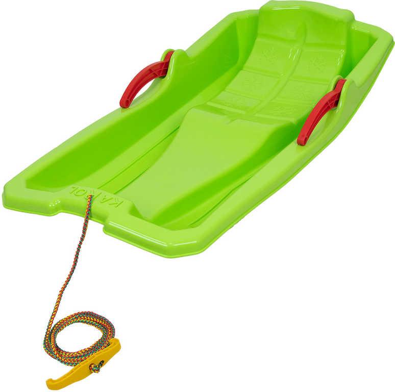 KAROL Boby dětské Zelené 80x43x14cm 2 brzdy s tažným lanem