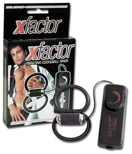 Vibrační kroužky na penis - Penis-Hoden-Schlaufe X-Factor