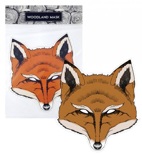 Časdětí papírová karnevalová maska na obličej liška Ryška