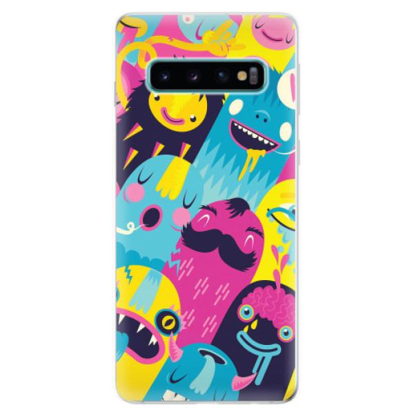 Odolné silikonové pouzdro iSaprio - Monsters - Samsung Galaxy S10
