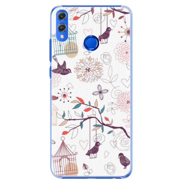 Plastové pouzdro iSaprio - Birds - Huawei Honor 8X