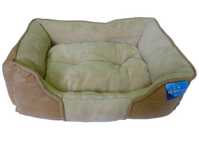 Béžový psí pelech - 61x48 cm