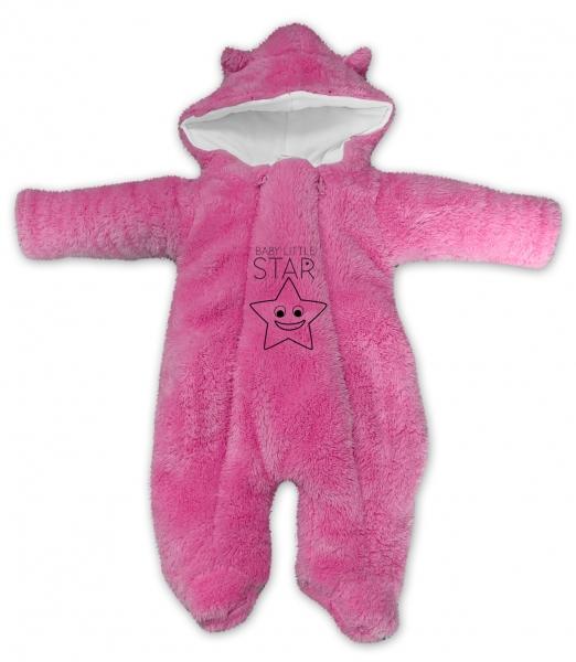 baby-nellys-zimni-chlupackova-kombinezka-little-star-ruzova-vel-74-74-6-9m