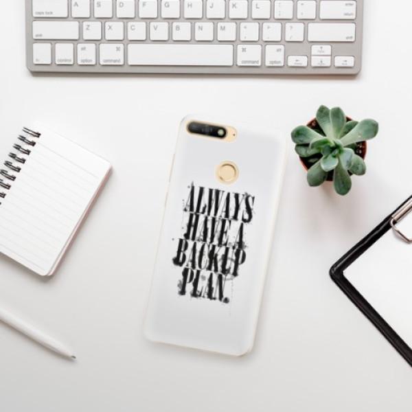 Odolné silikonové pouzdro iSaprio - Backup Plan - Huawei Y6 Prime 2018