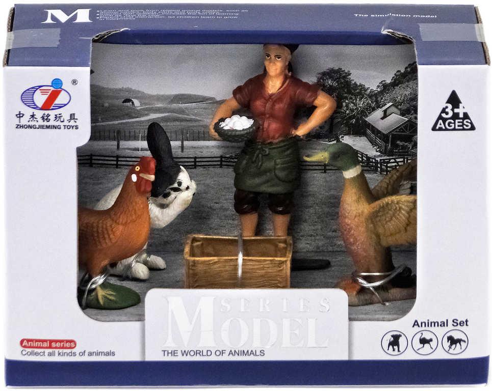 Farma domácí zvířátka herní set farmář se zvířátky a doplňky různé druhy