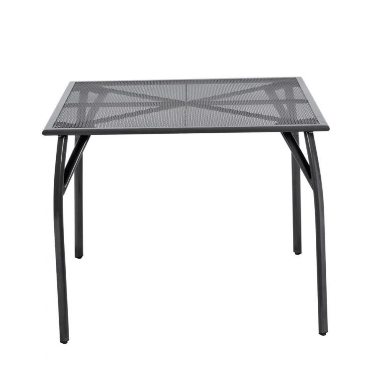 Zahradní kovový stůl - 72 x 90 x 90 cm